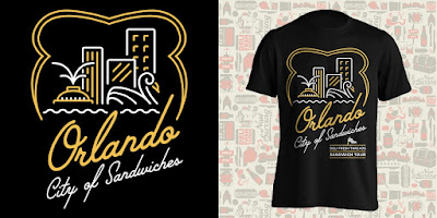 """Orlando: City of Sandwiches"" T-Shirt by Deli Fresh Threads"