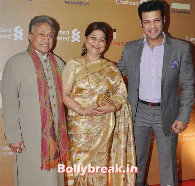 Ustad Amjad Ali Khan with his wife and Amaan Ali Khan, The Idea of India Auction Pics
