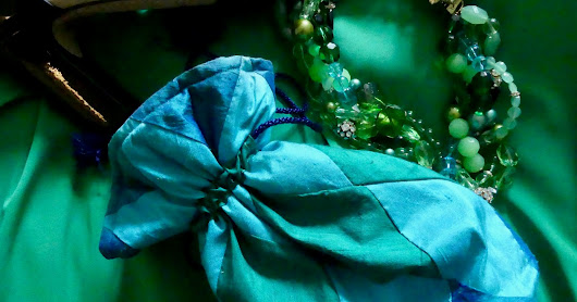Summer Wedding Outfit: Greens and Blues