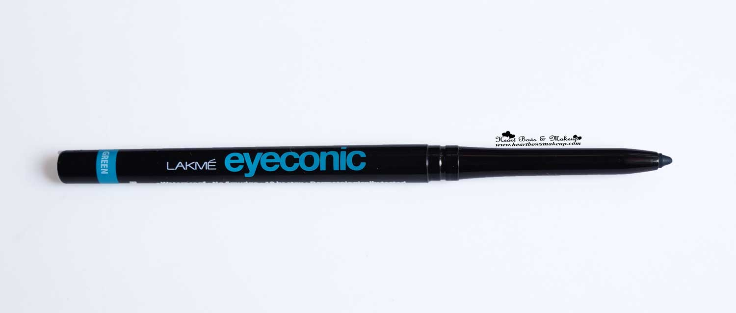 Lakme Eyeconic Green Kajal Review Swatches