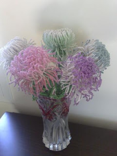 Букет хризантем из бисера