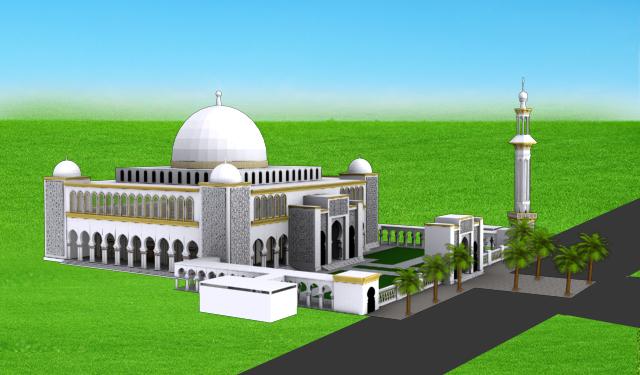 Desain Masjid An-Nubuwwah   Pesantren Shuffah Hizbullah