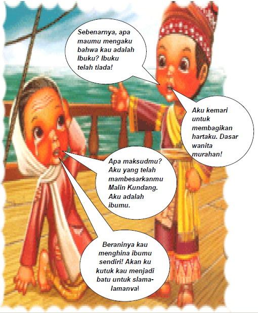 Clarissa Putri Riandani Computer Kids Cerita Bergambar Comic Maling Kundang Menjadi Batu