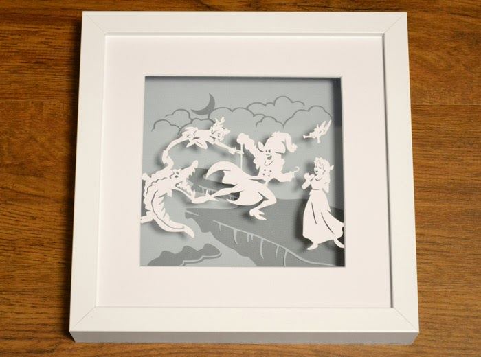Peter Pan Captain Hook battle papercut