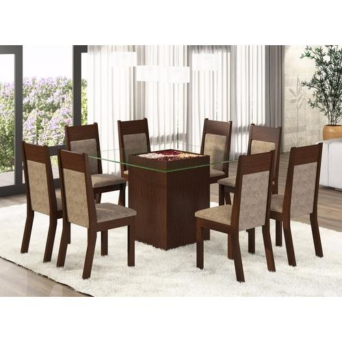 Conjunto Sala De Jantar Mesa De Vidro ~ Conjunto De Mesa Para Sala De Jantar Com 8 Cadeiras E Lugares Flórida