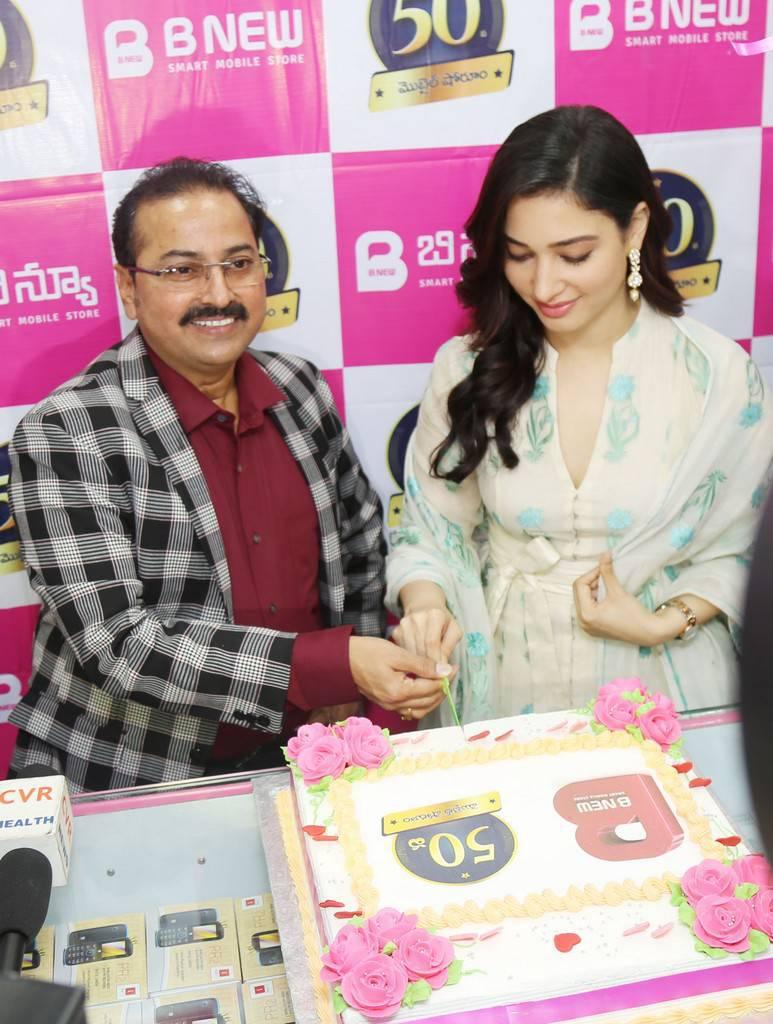 Tamanna Stills At B New 50th Mobile Store Launch Vijayanagaram