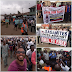 [PHOTOS] Residents of Sagamu, Ogun State Protest Against D.P.O of Police