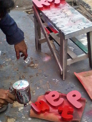 Projeck Huruf Timbul Letter LED jakarta Murah
