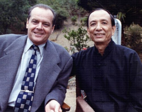 Jack Nicholson and James Hong in The Two Jakes