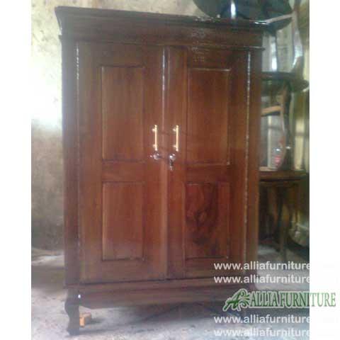lemari pakaian kayu jati 2 pintu anak