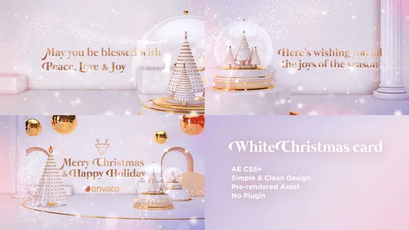 Videohive White Christmas Card 25288884