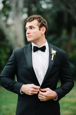 groom tuxedo shot