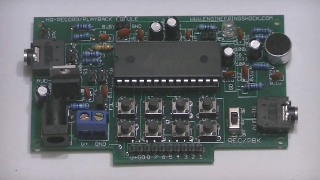 Audio Module For Arduino Records Xi Minutes As Well As Playbacks Multiple Well Bites!