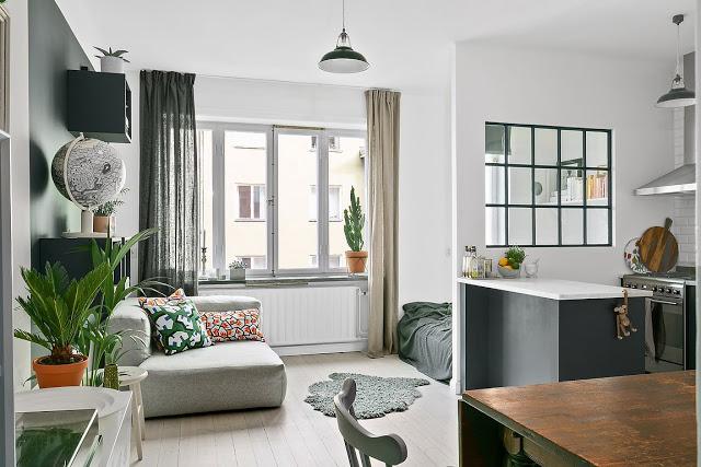 Amenajare funcțională și relaxată într-o garsonieră de 32 m²