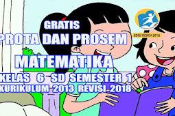 Program Semester dan Tahunan Matematika Kelas 6 SD Semester 1 Kurikulum 2013 Rev 2018