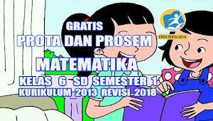 Prota dan Promes Matematika Kelas 6 SD Semester 1 Kurikulum 2013