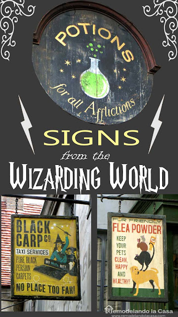 Magic - Apothecary signs for witches and wizards for Halloween parties