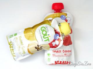 Gourde bio fraise/banane & pomme/coing - Good Goût