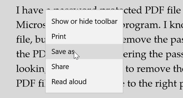 طرق إزالة كلمة المرور من ملفات PDF في ويندوز 10
