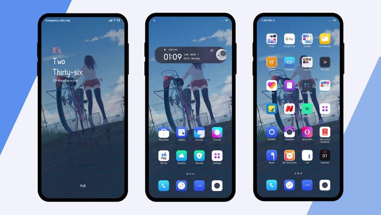 Soft Blue dual v11 MIUI Theme