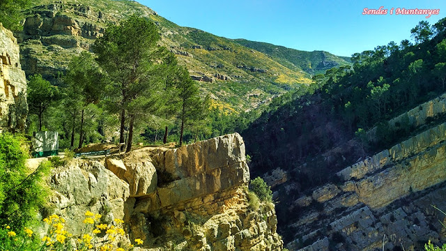 Mirador del cañón del río Turia, Sendes i Muntanyes