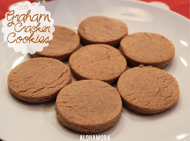 Soft Graham Cracker Cookies.  The taste of honey graham crackers in a soft cookie form.  Absolutely delicious cookies everyone of every cookie will love.   Enjoy these plain with milk, or top it will a frosting of your choice.  Easy, delicious, not your typical cookie goodness. Alohamora Open a Book http://alohamoraopenabook.blogspot.com/ egg free, allergy