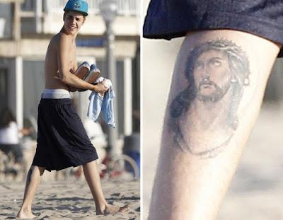 Justin Bieber Se Tatuo El Rostro De Jesucristo En La Pantorrilla