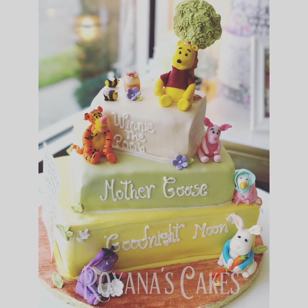 Baking With Roxana's Cakes: Stack Of Books Baby Shower Cake