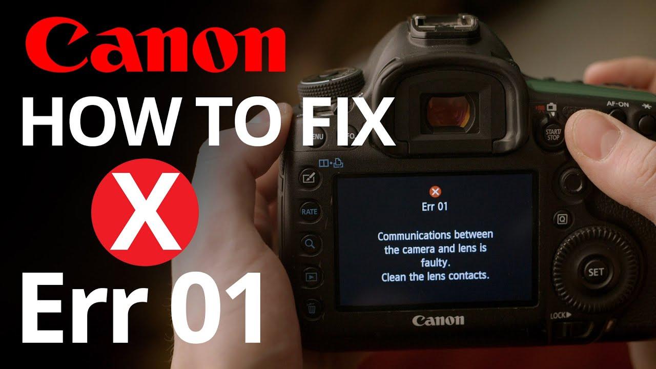 Mengatasi dan Arti Kode Error 01 Kamera Canon
