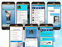 BBM MOD Blue and White 3.2.0.6 Versi APK Clone terbaru android