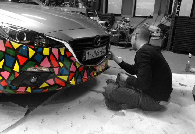 Car wrapping - abstract art by ben heine