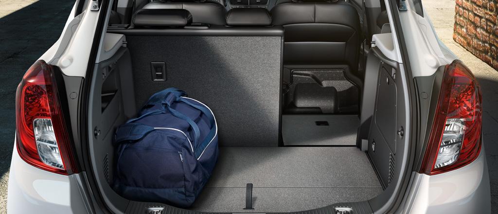 Bagagliaio Opel Mokka: capacità volumetrica in litri