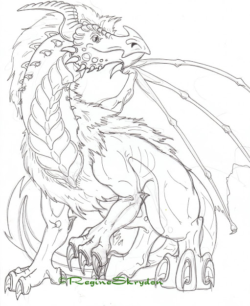 Detailed Coloring Pages For Adults  Detailed Dragon Colouring Pages  Pictures