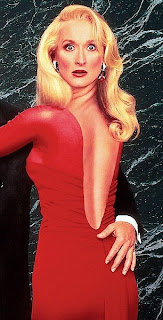 meryl streep, death becomes her, red dress,