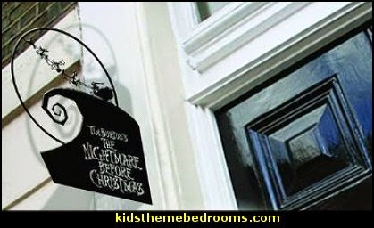 Nightmare Before Christmas inches Set Out to Sleigh Metal Hanging Sign    nightmare before christmas decor  halloween decorating  nightmare before christmas decorations