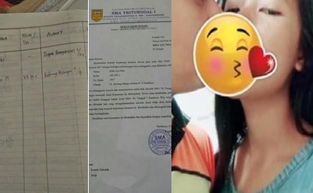 Rida Ayu Nisa Siswi Pelakor Suami Marru Widdi Akhirnya di DO dari Sekolah - fb