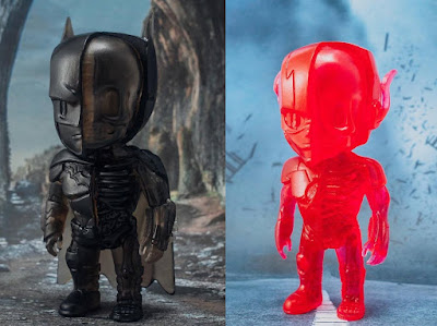 Singapore Toy Game and Comic Convention  2016 Exclusive DC Comics XXRAY Dissection Clear Edition Batman & The Flash Vinyl Figures by Jason Freeny & Mighty Jaxx