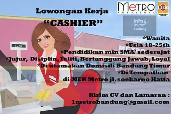 Lowongan Kerja MER Metro Furniture Bandung