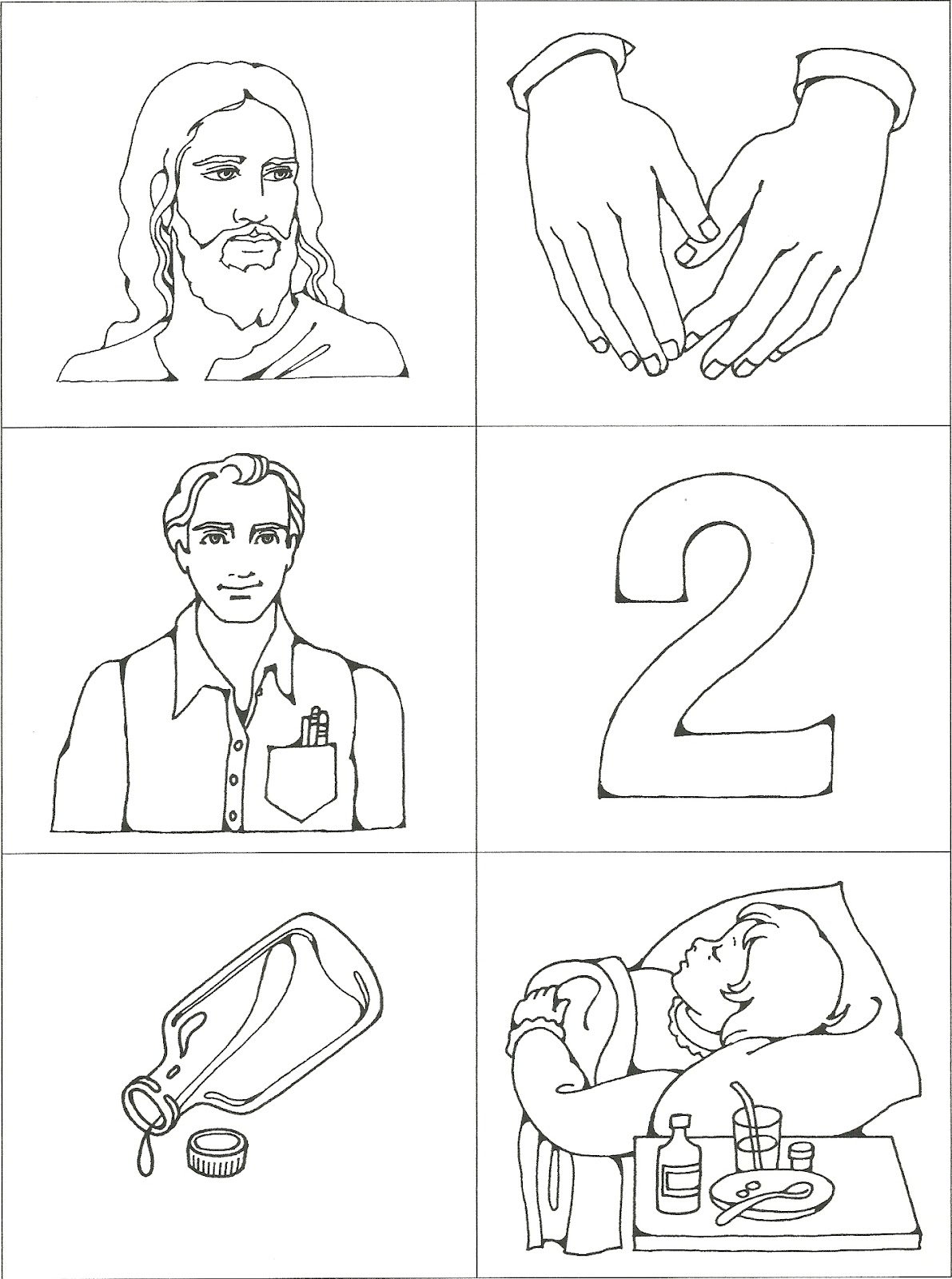 jesus heals jairus daughter coloring page - happy clean living primary 2 lesson 16