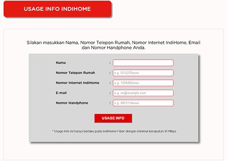PT. Telekomunikasi Indonesia, FUP, IndiHome, cek sisa kuota IndiHome, volume pemakaian data, penggunaan UseeTV, memonitor penggunaan internet.