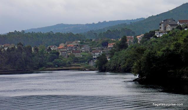 Ría de Pontevedra em Pontesampaio, no Caminho de Santiago