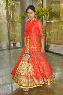 Simrat in Orange Anarkali Dress 15.JPG