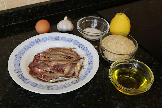 Ingredientes para boquerones al limón