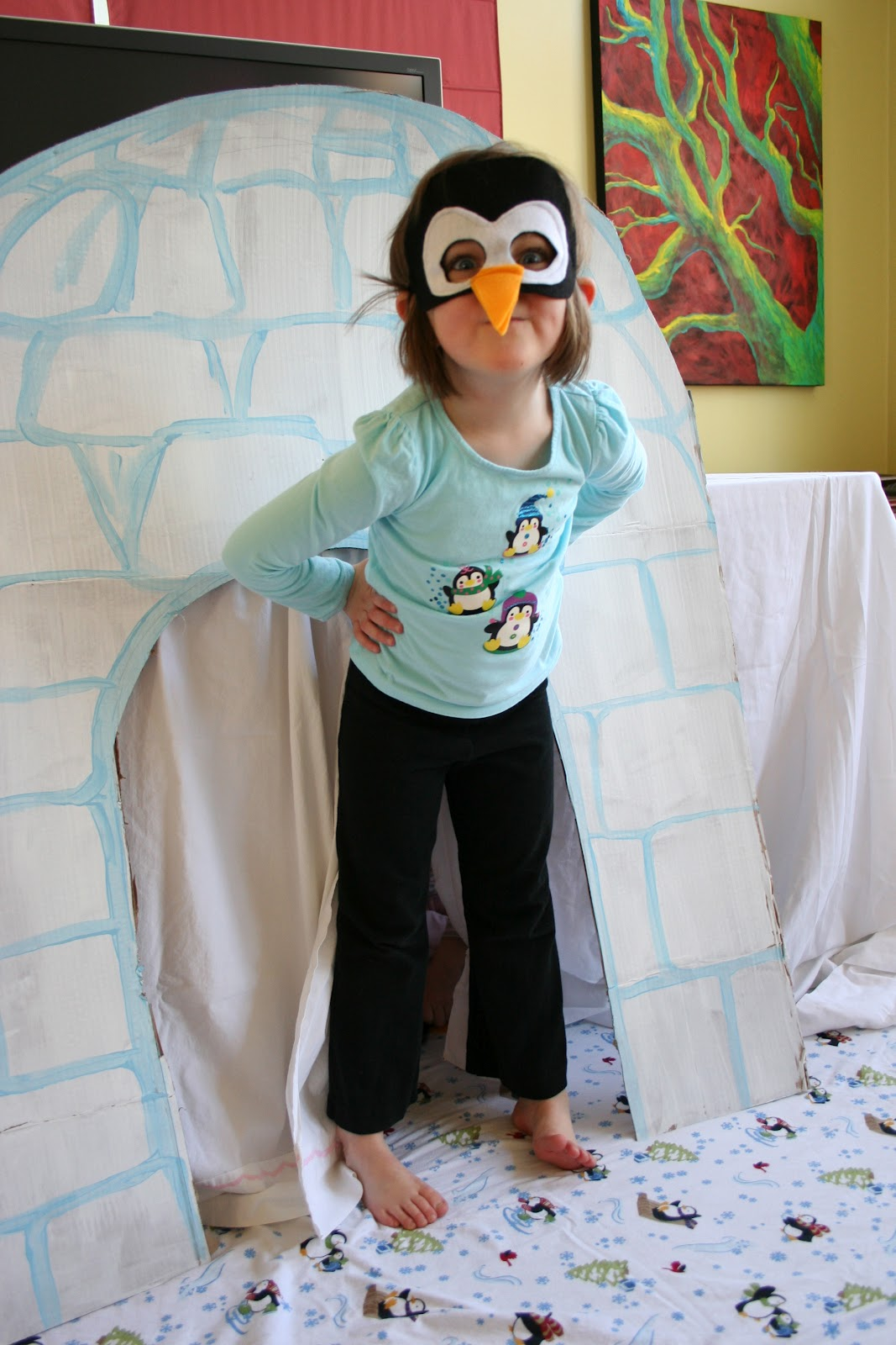 Pink And Green Mama Penguin Party Games
