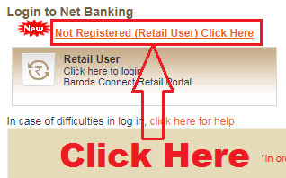 how to register for bank of baroda internet banking online