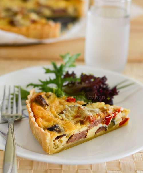 Sausage and Vegetable Quiche