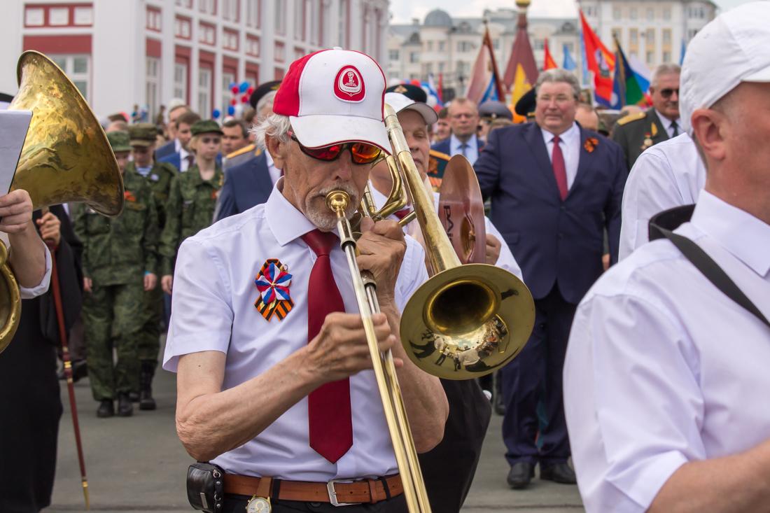 Тромбонист из оркестра