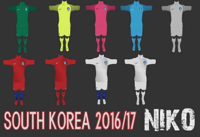 South Korea 16/17 Kit PES 2013