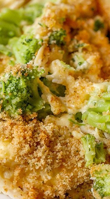 Chicken And Broccoli Casserole With Bread Crumbs