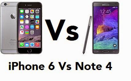 Compare Handphone iPhone 6 Vs Samsung Galaxy Note 4